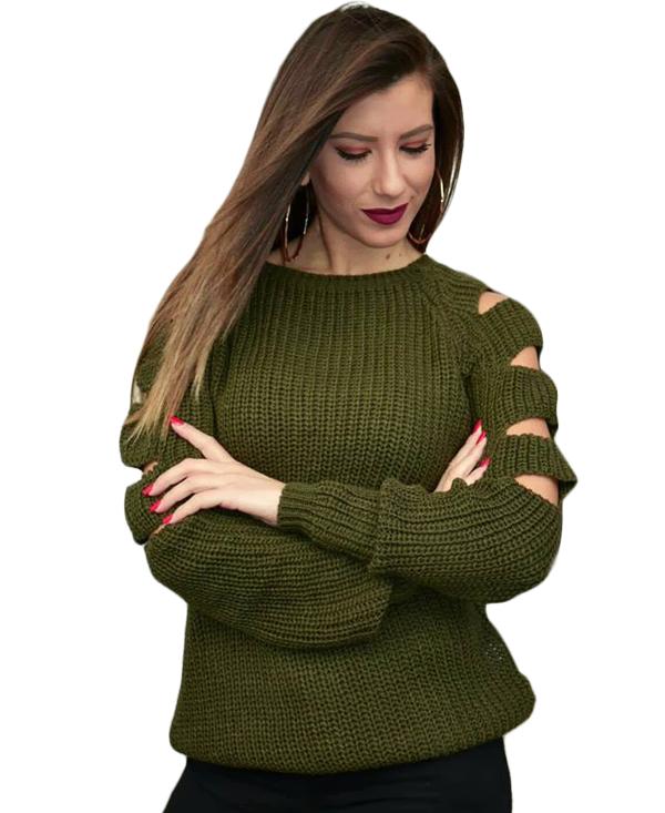 2211 Γυναικεία Μπλούζα Πλεκτή Markize (AW18) αρχική μπλούζες φθινόπωρο   χειμώνας
