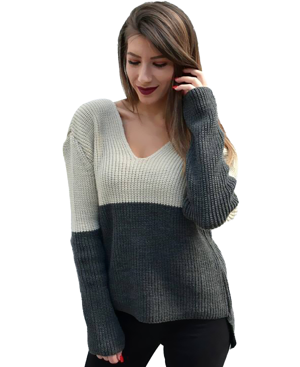 2227 Γυναικεία Μπλούζα Πλεκτή Μarkize (AW18) αρχική μπλούζες φθινόπωρο   χειμώνας