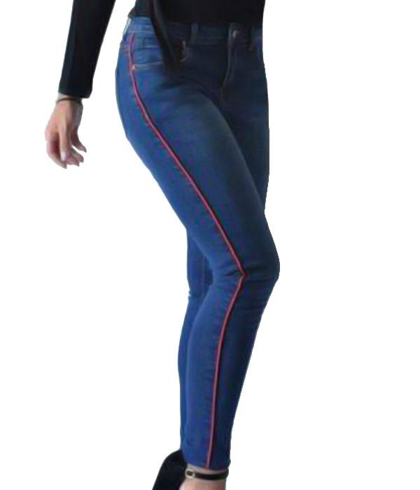 5517 ΠΑΝΤΕΛΟΝΙ JEANS STRIPE MARKIZ ΤΖΙΝ αρχική ρουχισμός γυναικεία ρουχα παντελονια
