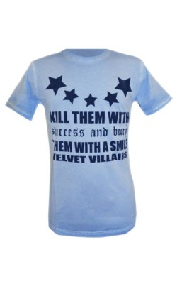 004-07 Velvet Villains Ανδρικό T-shirt Πετροπλυμένο Velvet Stars Γαλάζιο